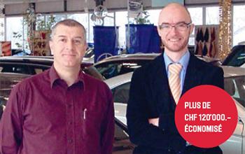 Didier Leuba, administrateur du groupe Leuba et Michel Santus, directeur technique des garages