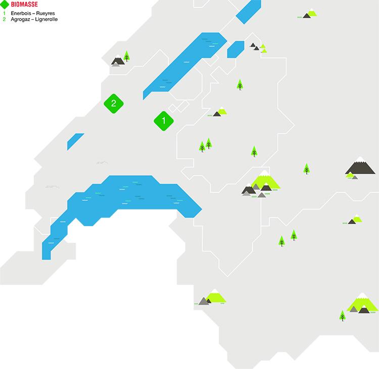 Carte Centrales biomasse